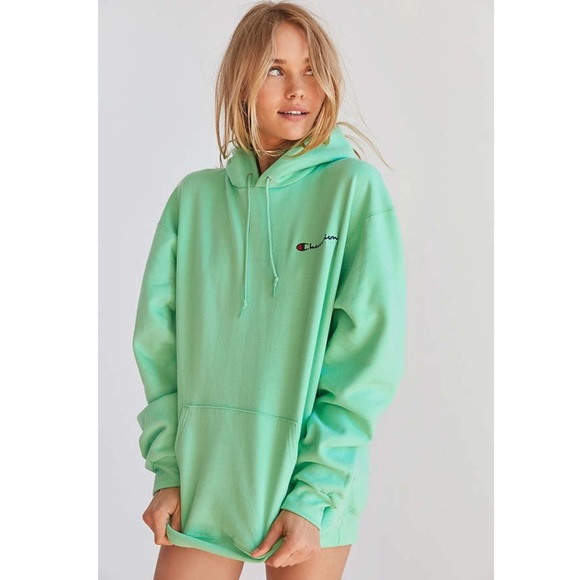 klassikko saapuu alkuun tuotemerkkejä Champion Mint Green Powerblend Pullover Hoodie NWT